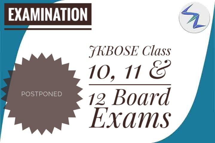 JKBOSE Class 10th & 12th Board Exams Postponed Due To Corona...