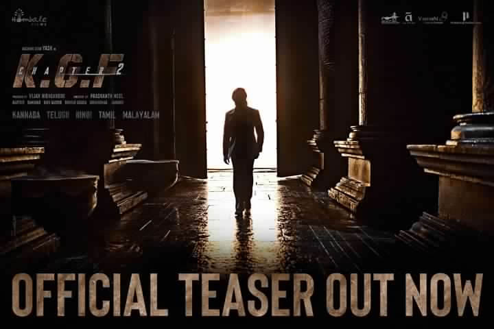 KGF Chapter 2 Teaser Records on Youtube