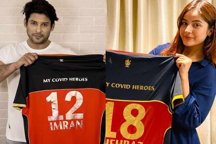 After Sidharth Shukla, Shehnaz Gill Takes 'My Covid Heroes' Challenge By Royal Challengers Bangalore