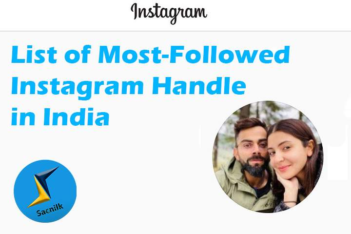 Top 10 Most-Followed Instagram Handle in India