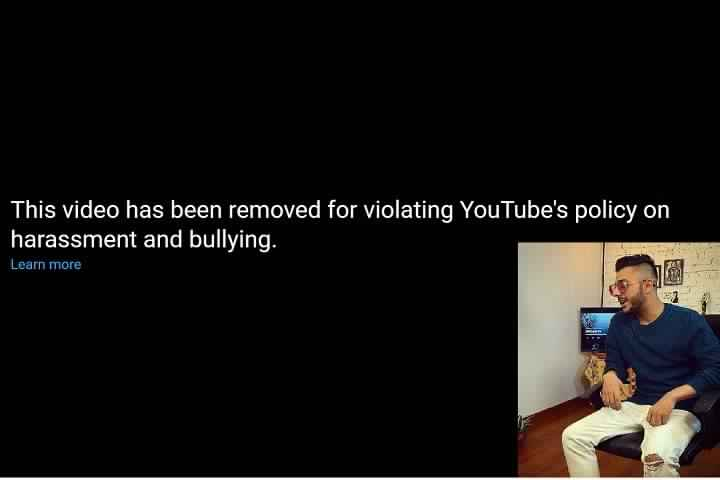 CarryMinati Viral Video Deleted for Violating YouTube's poli...