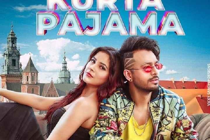 The first look poster of Tony Kakkar's music video 'Kurta Pa...