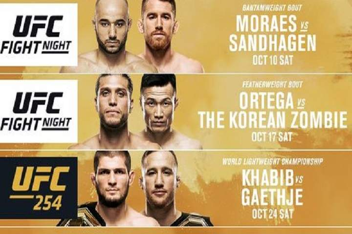 Ufc Fight Night 179 Marlon Moraes Vs Cory Sandhagen Fight Card Prediction Preview Date Location Odds