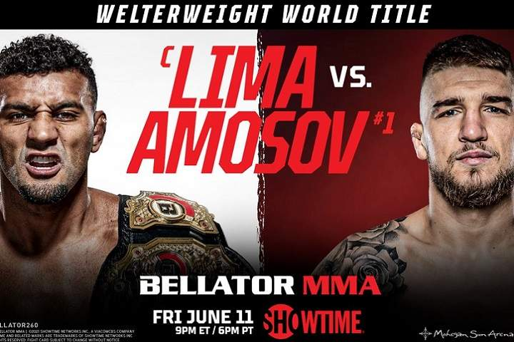 Bellator 260: Lima vs. Amosov Fight Card: Prediction & Preview, Date & Location, Tickets, Poster, Odds, Start Time