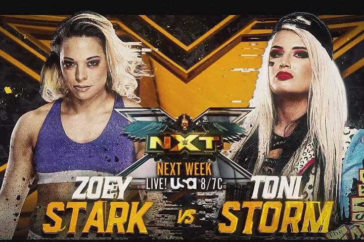 Zoey Stark Vs. Toni Storm Set For Action Next Week On NXT