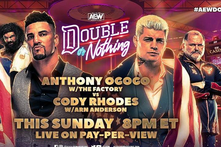 AEW Double Or Nothing 2021: Cody Rhodes Vs. Anthony Ogogo Match Highlights & Winner