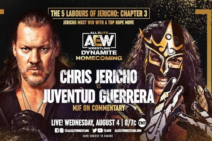 Chris Jericho Vs. Juventud Guerrera Added To AEW's Homecoming Event On August 4