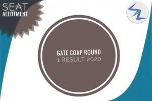 GATE COAP Round 1 Result 2020 Declared | Details Inside