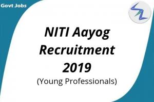 NITI Aayog Recruitment 2019   Open Posts for Young Professio...