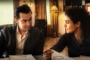 Kajol shares BTS picture with Aamir Khan from the pre-shoot ...