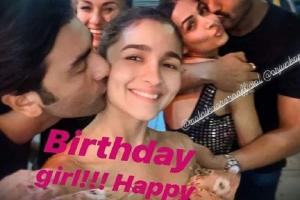Ranbir giving a peck on Alia's cheek, picture goes viral