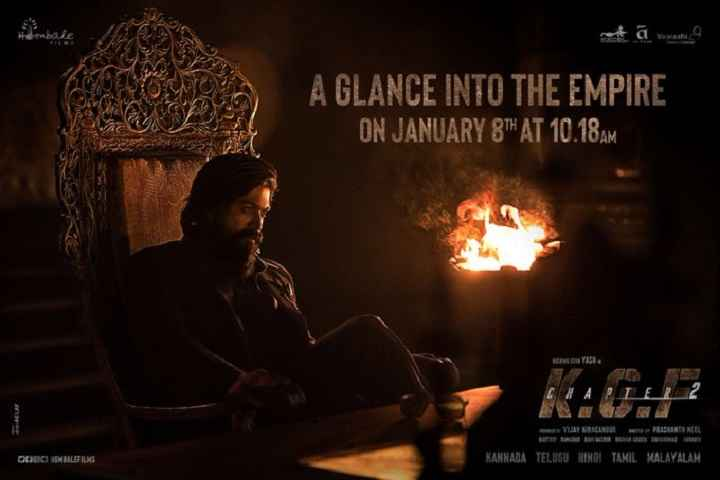 KGF Chapter 2 Teaser Will Be Unveiled On January 8, New Poster Out
